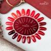 Retro Red Gel Polish by Sara Boruc Mannei