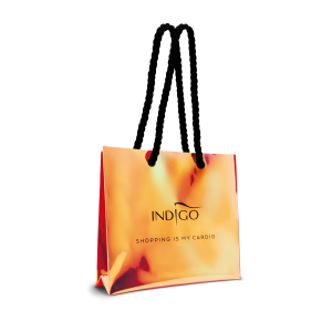 Holographic shopping bag - orange